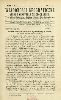 Wiadomości Geograficzne R. 14 (1936)