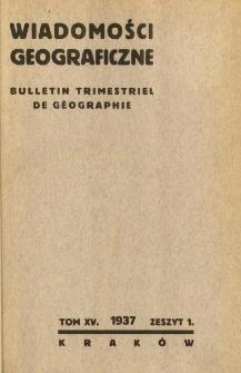 Wiadomości Geograficzne R. 15 (1937)