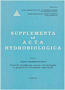 Supplementa ad Acta Hydrobiologica Vol. 2 (2002)