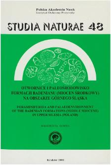 Studia Naturae Nr 48 (2001)