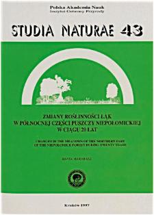 Studia Naturae No. 43 (1997)