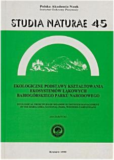 Studia Naturae No. 45 (1999)
