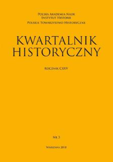 Kwartalnik Historyczny R. 125 nr 3 (2018), Artykuły recenzyjne i recenzje