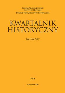 Kwartalnik Historyczny R. 125 nr 4 (2018)