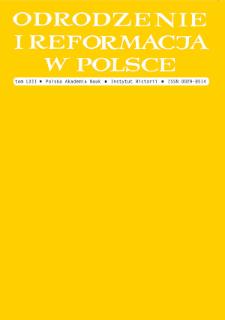 Odrodzenie i Reformacja w Polsce T. 62 (2018)