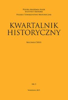 Kwartalnik Historyczny R. 126 nr 3 (2019), Artykuły recenzyjne i recenzje