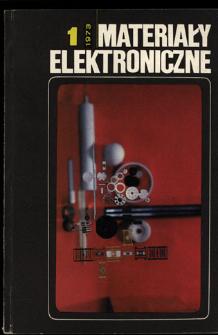 Materiały Elektroniczne 1973 nr 1