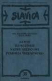 Dawne słowiańskie nazwy miejscowe Pomorza Środkowego