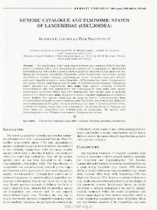 Generic catalogue and taxonomic status of Languriidae (Cucujoidea)